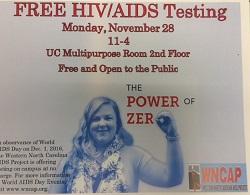 The Power of Zero: WCU participates in World AIDS Day