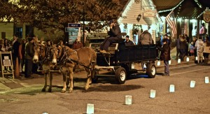 Horse and carriage ride around the town was the most popular item at the Dillsboro Lights and Luminaires, Dec. 2, 2016. Photo by Chris Lang.