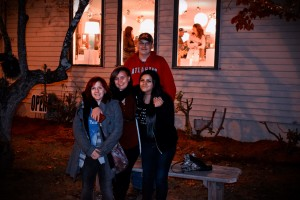 SHHS students Katelin Pelkey, Nataya Huskey, Aimee Abbott and SCC student Caleb Cannon at the Dillsboro Lights and Luminaries, Dec. 2, 2016. Photo by Chris Lang.