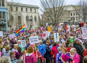 All politics is local: Jackson County residents march on D.C., Asheville