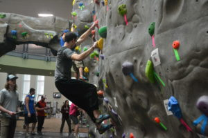 Climbing competition takes over rec center
