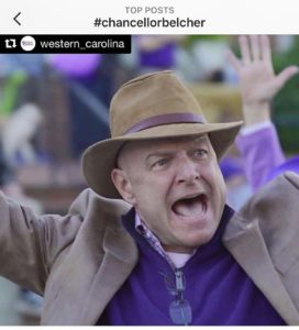 WCU rallies in support for Chancellor Belcher