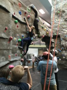 WCU Climbing Club takes gold at annual bouldering competition
